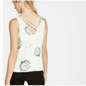 Express dandelion floral camisole tank top